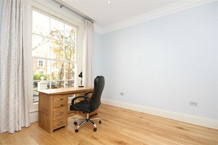 Hammersmith Grove, London, W6 Modern Study Room and Home Office by APT Renovation Ltd Modern