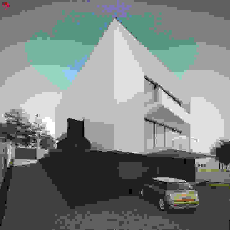Moradia unifamliar - Tipologia T3 Casas modernas por EsboçoSigma, Lda Moderno