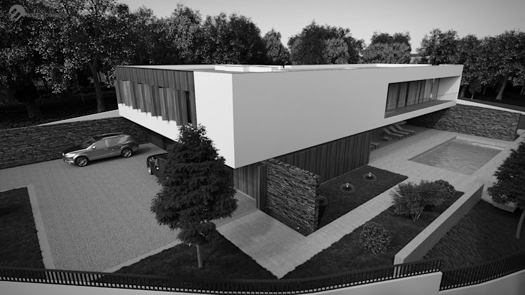 Minimalist house by Esboçosigma, Lda Minimalist