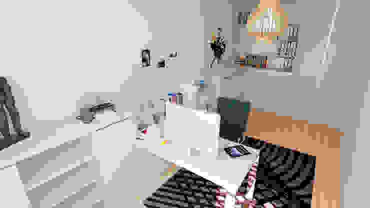 Moradia unifamiliar - Tipologia T4 Espaços de trabalho minimalistas por Esboçosigma, Lda Minimalista