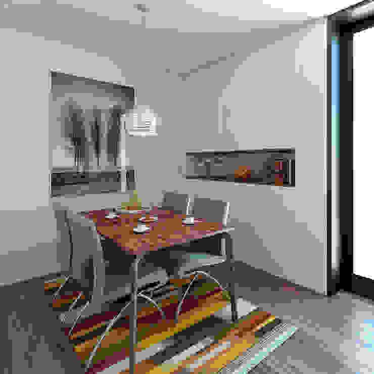 Moradia unifamiliar – Tipologia T4 Esboçosigma, Lda Salas de jantar minimalistas