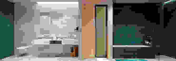 Moradia unifamiliar – Tipologia T4 Esboçosigma, Lda Casas de banho minimalistas