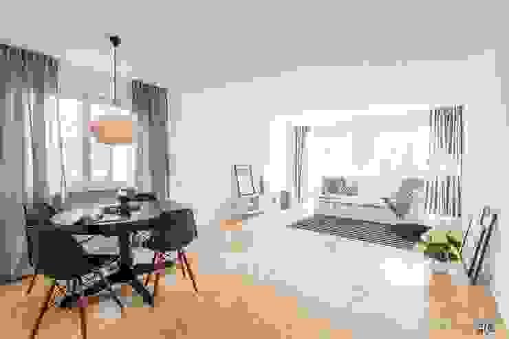 Ruang Makan Gaya Skandinavia Oleh Münchner home staging Agentur GESCHKA Skandinavia