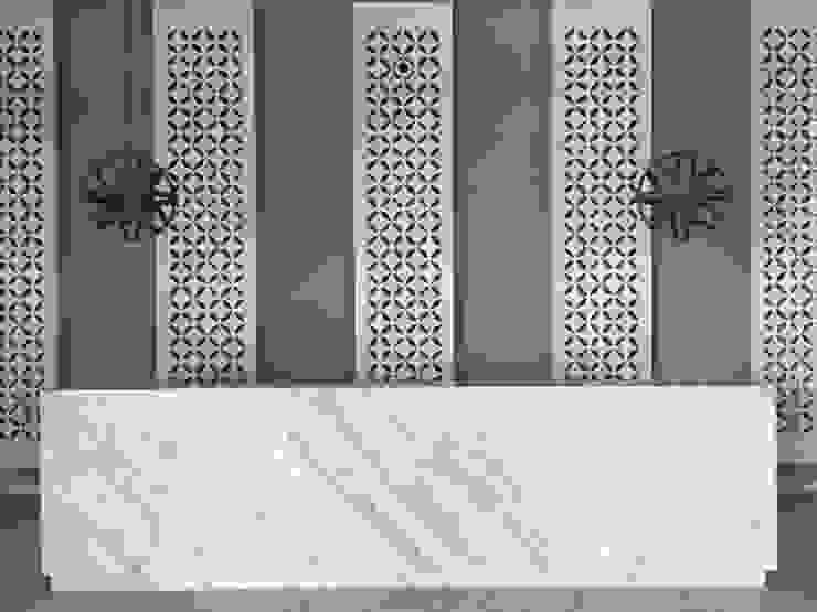 Recepcion Pasillos, vestíbulos y escaleras de estilo moderno de Ecologik Moderno Mármol