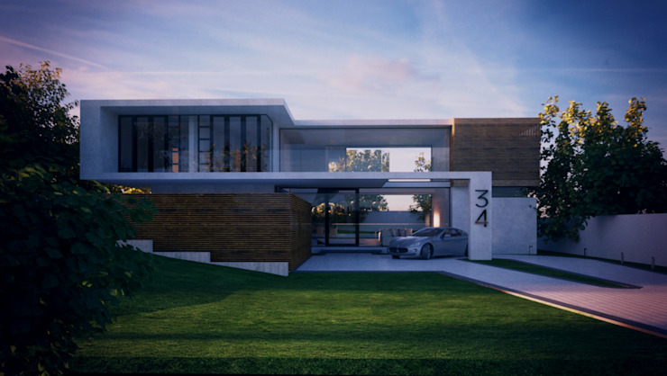 Front View:  Houses by Eclipse Architects,