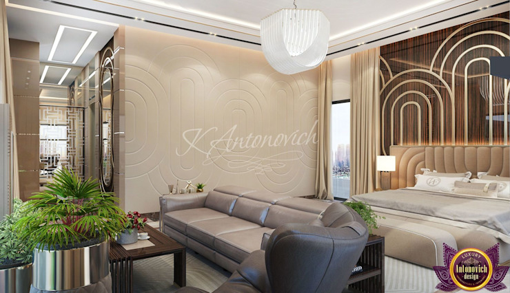 ​Modern Bedroom design ideas by Katrina Antonovich Modern style bedroom by Luxury Antonovich Design Modern