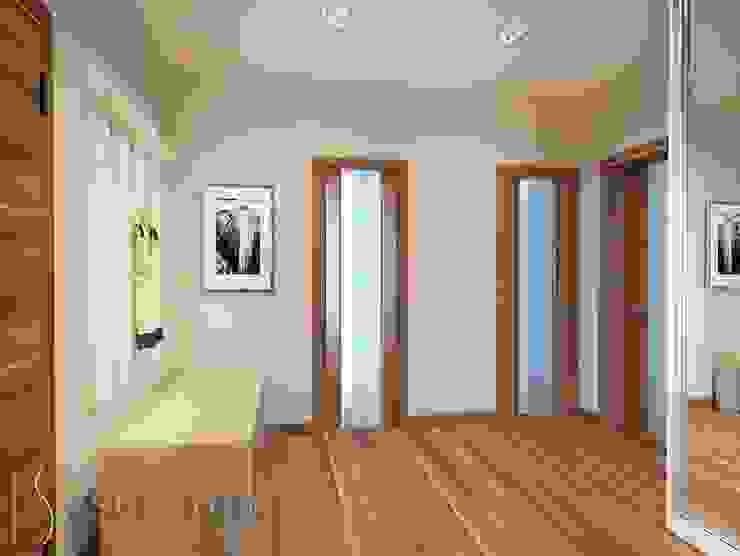ISDesign group s.r.o. Pasillos, vestíbulos y escaleras de estilo ecléctico