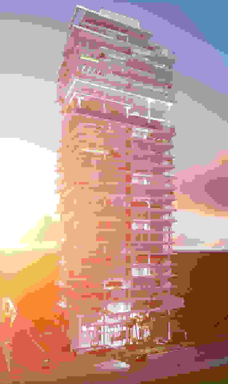 Casas modernas de LEONARDO CABRAL ARQUITETURA Moderno Mármol