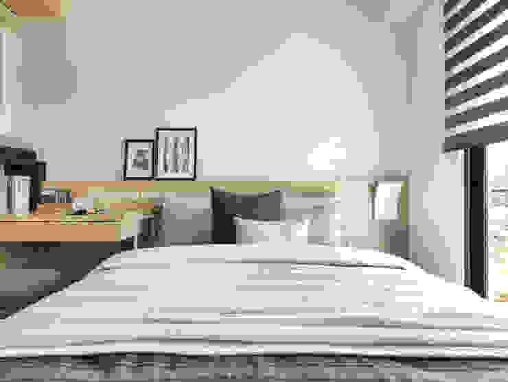 Спальня в стиле минимализм от 存果空間設計有限公司 Минимализм