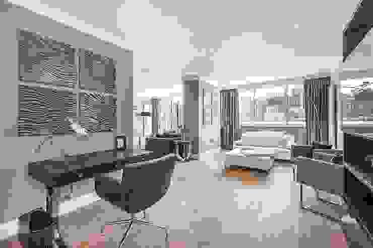 The Icon, Grosvenor Road, London, SW1V Modern Living Room by APT Renovation Ltd Modern