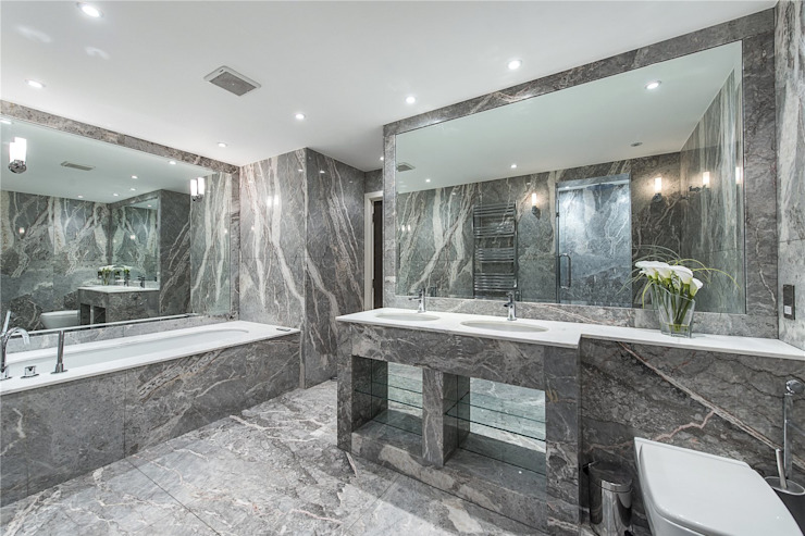 The Icon, Grosvenor Road, London, SW1V Modern Bathroom by APT Renovation Ltd Modern