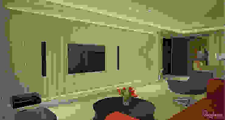 🍀 现代客厅設計點子、靈感 & 圖片 根據 宇喆室內裝修設計有限公司 現代風