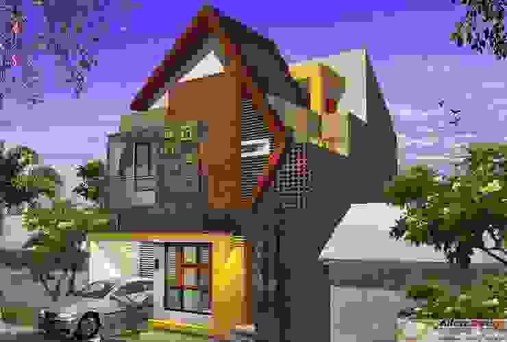 Eksterior Rumah Rumah Tropis Oleh Alfaiz Design Tropis Batu Bata