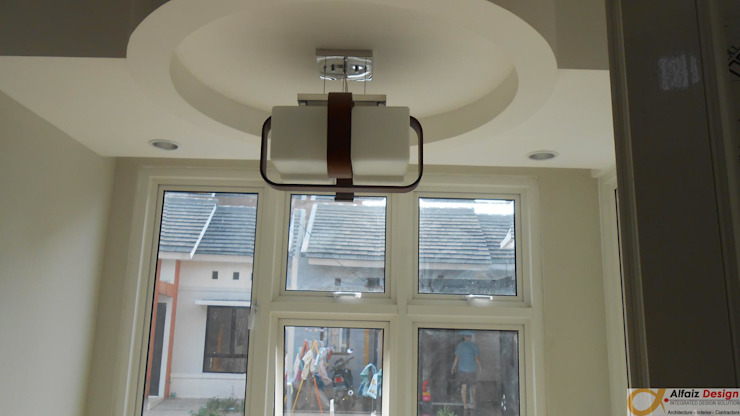 plafond Ruang Makan Modern Oleh Alfaiz Design Modern Kayu Buatan Transparent