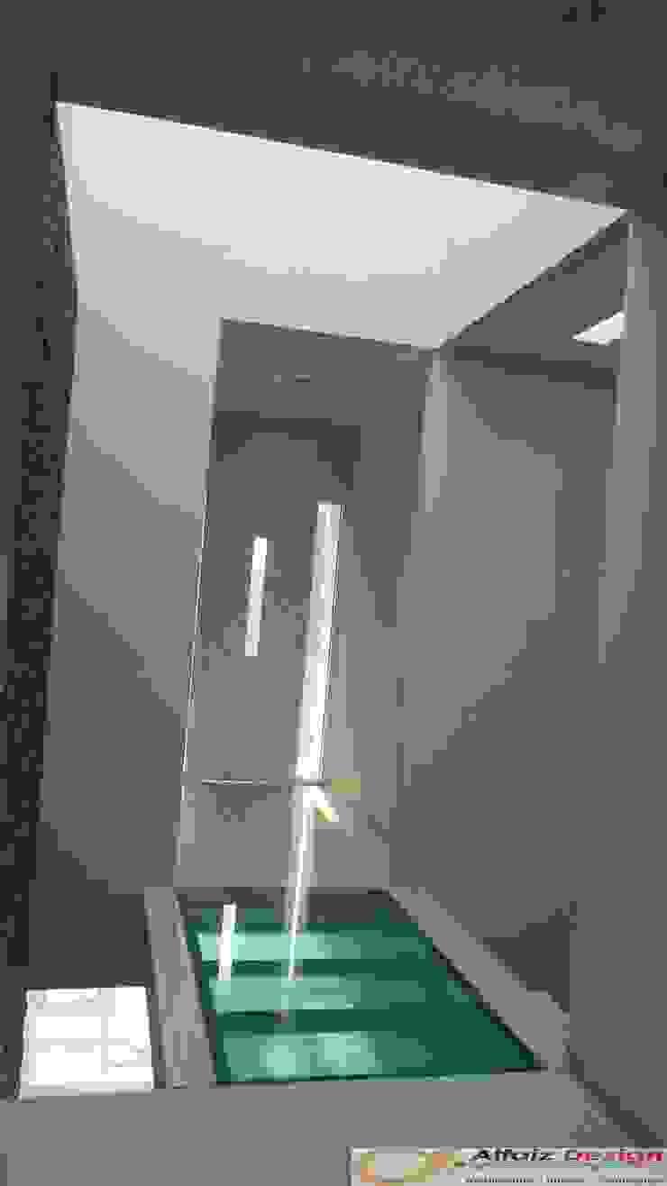Rumah Jatiwaringin Koridor & Tangga Tropis Oleh Alfaiz Design Tropis