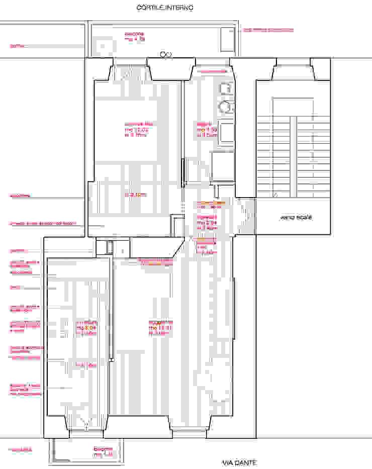planimetria dell'appartamento di M2Bstudio Moderno