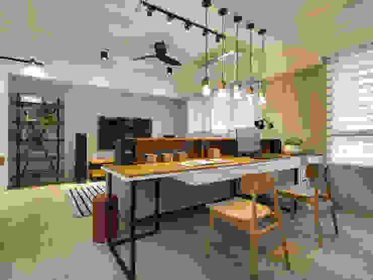 書房 根據 存果空間設計有限公司 簡約風 木頭 Wood effect