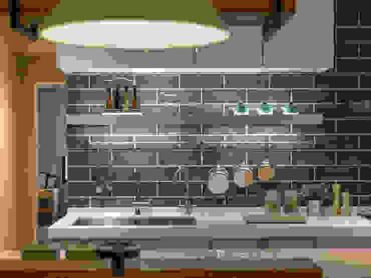 廚房: 極簡主義  by 存果空間設計有限公司, 簡約風 磁磚