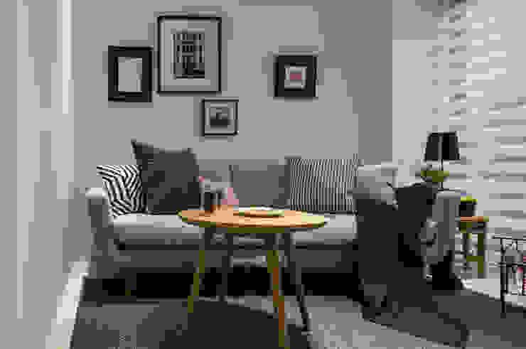 存果空間設計有限公司 Ruang Keluarga Gaya Eklektik