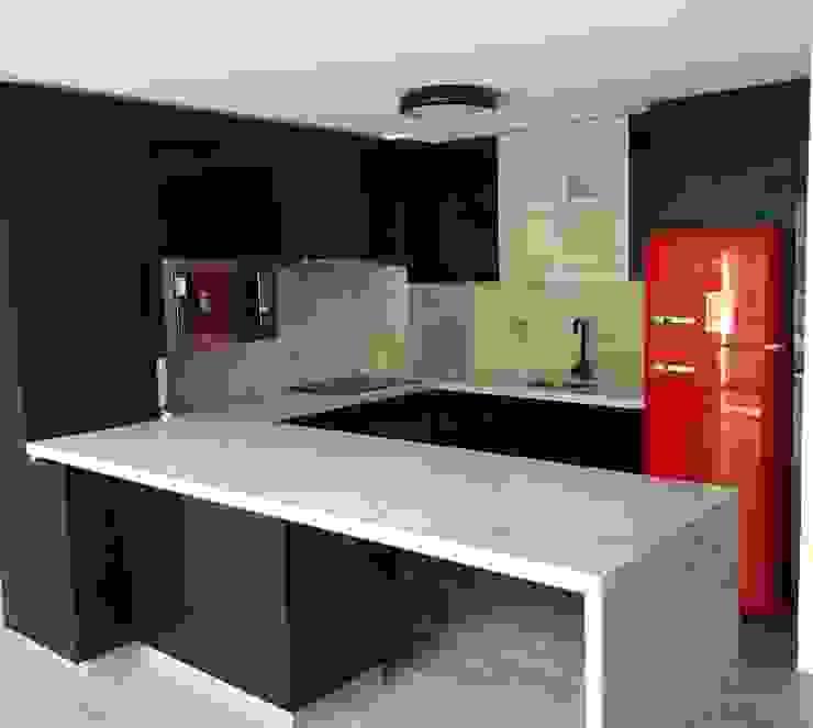 Proyecto Cocina, Providencia.: Cocinas de estilo  por Muebles Menard, Moderno