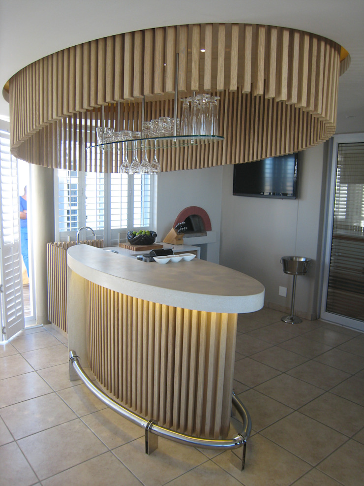 Van Niekerk bar counter Modern dining room by Stoneform Concrete Studios Modern Concrete