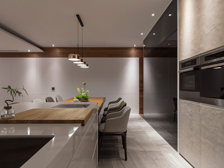Modern kitchen by 拾葉 建築室內設計 Modern