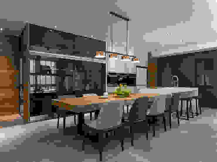 取景.生活敞域 現代廚房設計點子、靈感&圖片 根據 拾葉 建築室內設計 現代風