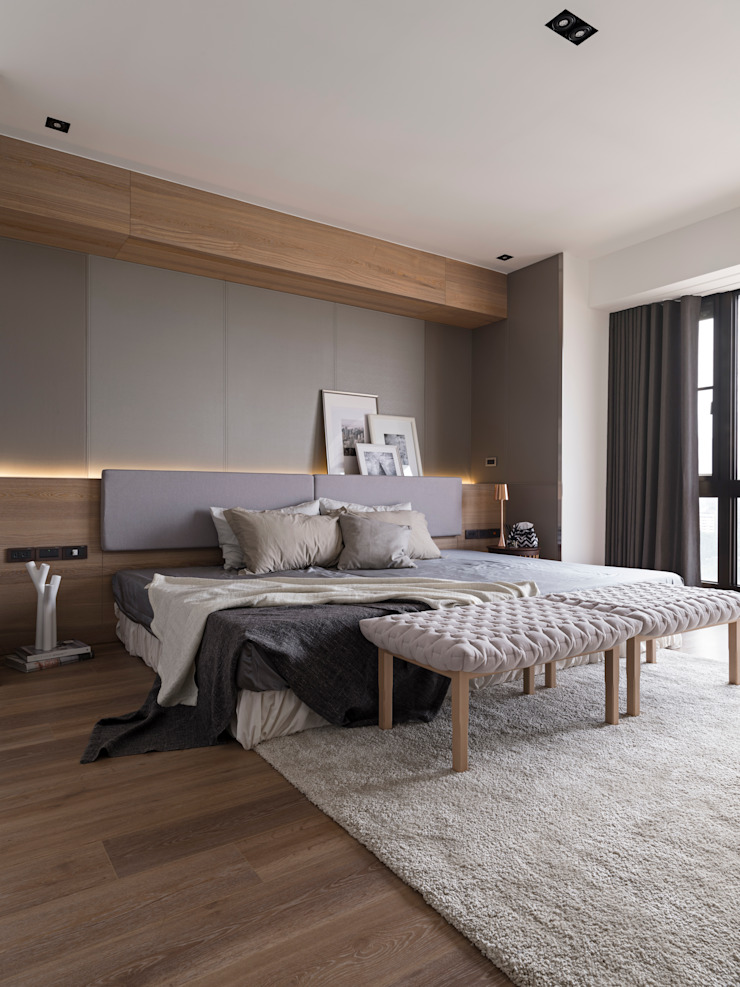 Modern style bedroom by 拾葉 建築室內設計 Modern