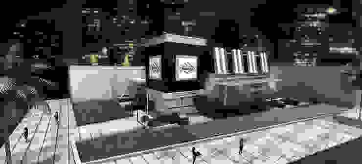 TGI Fridays Barranquilla Balcones y terrazas de estilo moderno de Grupo GAAB SAS - Arquitectura & Diseño Moderno