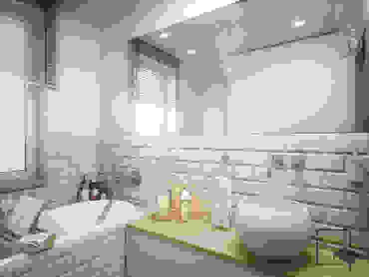 Ванная комната в рустикальном стиле от 4 kąty a stół 5 Pracownia Projektowa Ewelina Białobrzewska Рустикальный Плитка