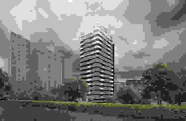 Case moderne di 行一建築 _ Yuan Architects Moderno