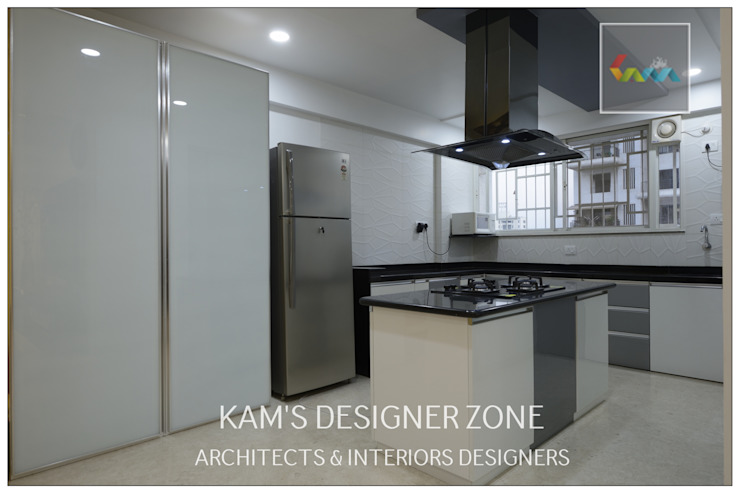 Flat Interior Design for PINKY AGARWAL Modern kitchen by KAM'S DESIGNER ZONE Modern