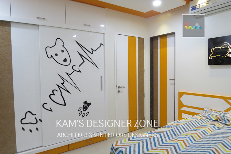 Home Interior Design for PREETI AGARWAL Modern nursery/kids room by KAM'S DESIGNER ZONE Modern