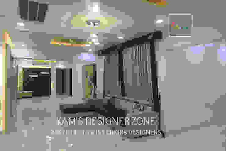Home Interior Design for PREETI AGARWAL Modern living room by KAM'S DESIGNER ZONE Modern