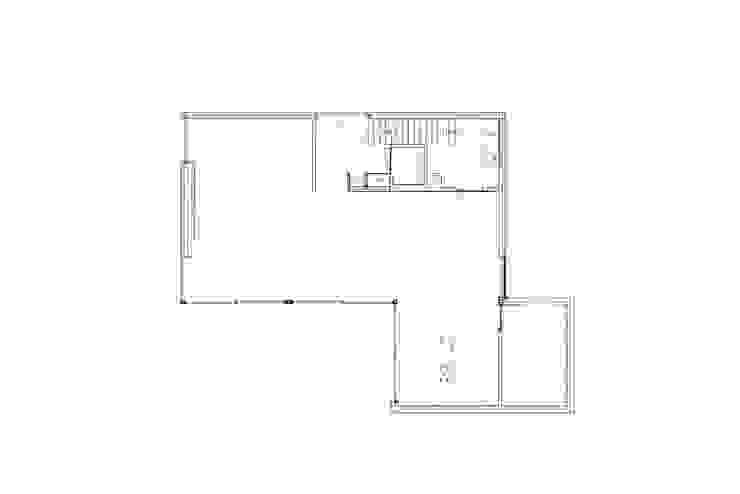 beganegrond Moderne woonkamers van Studio Blanca Modern