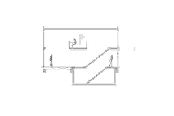 doorsnede Moderne gangen, hallen & trappenhuizen van Studio Blanca Modern