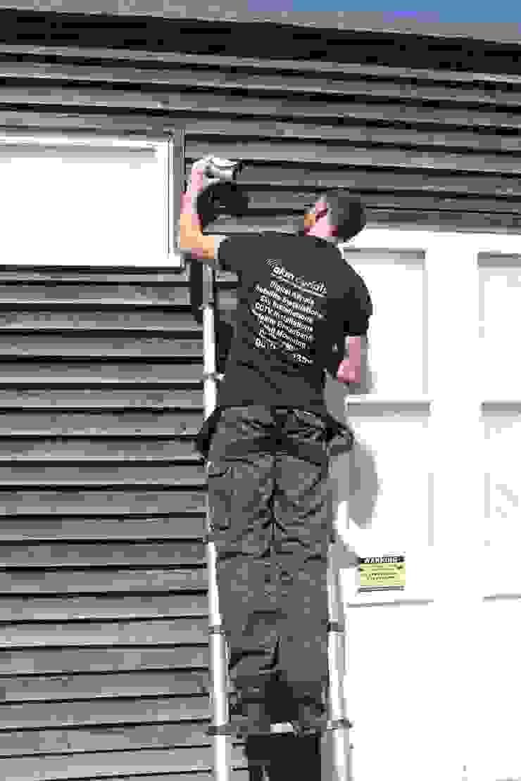 CCTV Lechlade Ruang Keluarga Modern Oleh Lechlade Aerials Modern Metal