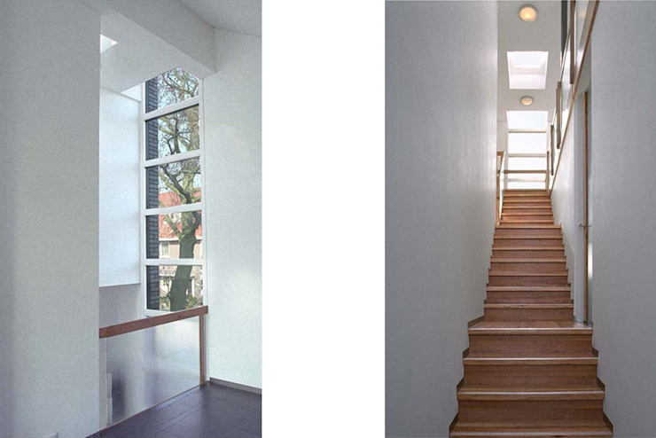 vide en trap Moderne gangen, hallen & trappenhuizen van Studio Blanca Modern