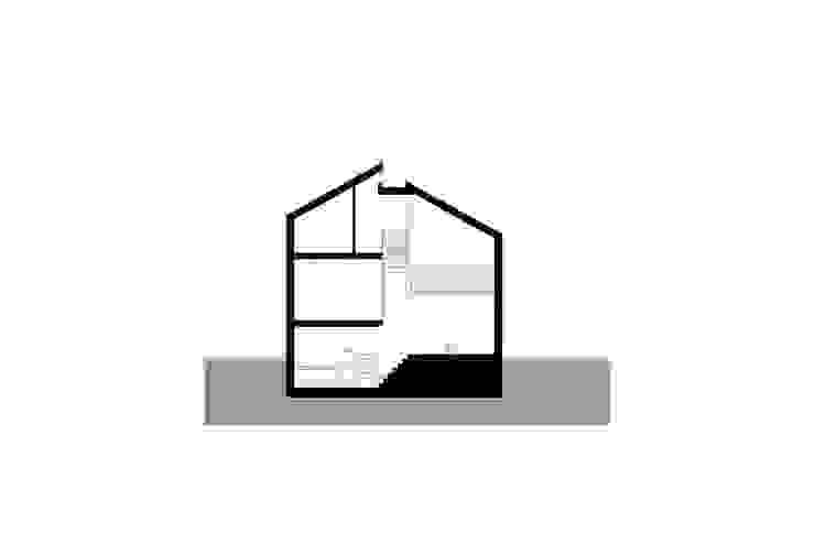 doorsneden Moderne gangen, hallen & trappenhuizen van Studio Blanca Modern