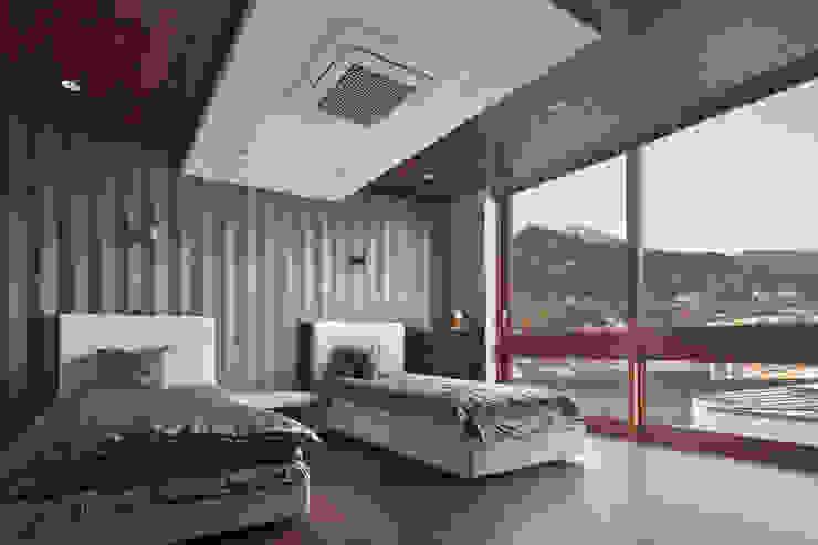 (주)건축사사무소 모도건축 臥室 木頭 Brown