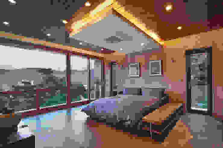 2층 침실 모던스타일 침실 by (주)건축사사무소 모도건축 모던 우드 우드 그레인