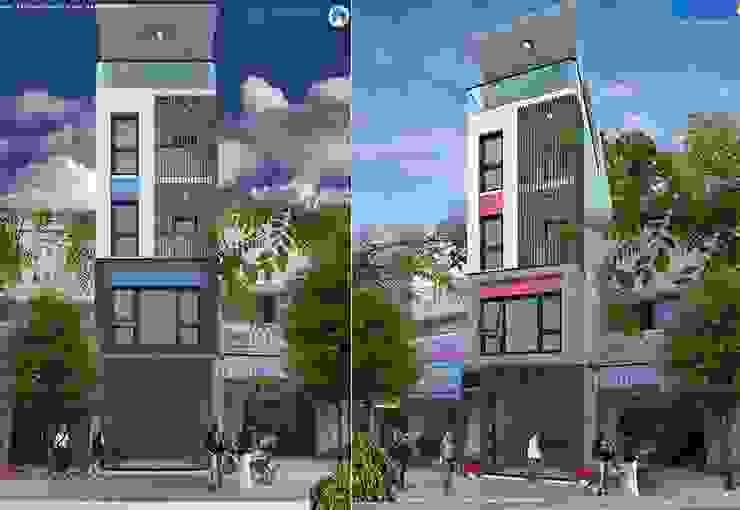 Mẫu thiết kế nhà phố 4mx16m đẹp kết hợp kinh doanh bởi Văn phòng kiến trúc Ktshanoi