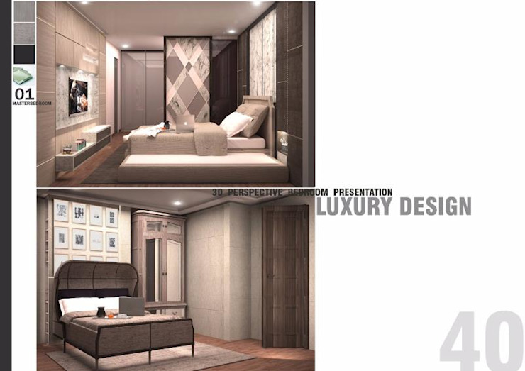 THE ROOM SUKHUMVIT 69 (STYLE LUXURY) โดย Future Interior Design Co.,Ltd. ผสมผสาน