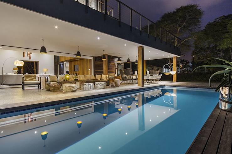 House Umhlanga:  Patios by Ferguson Architects, Modern