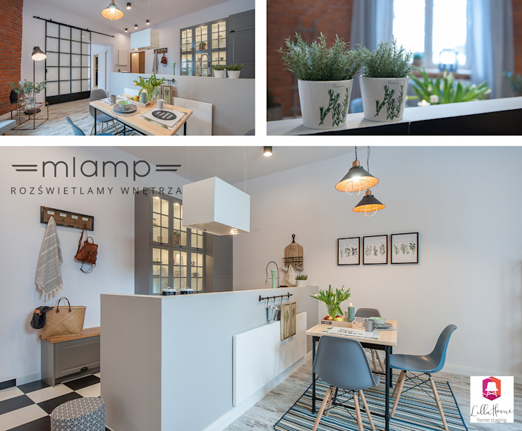 Eclectic style dining room by Mlamp Eclectic
