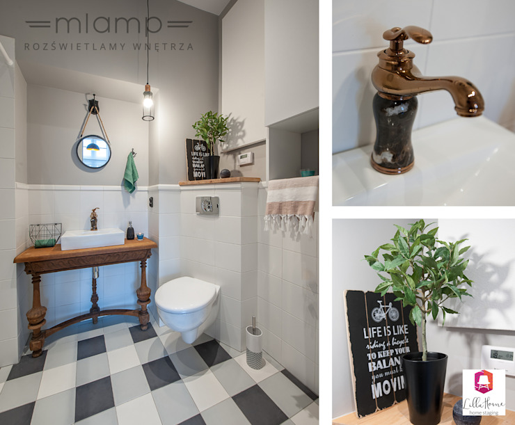 Eclectic style bathroom by Mlamp Eclectic
