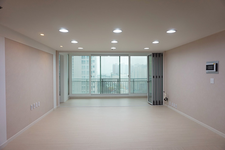 센텀비치푸르지오 35평형 인테리어 모던스타일 거실 by 빅터인디자인그룹 모던