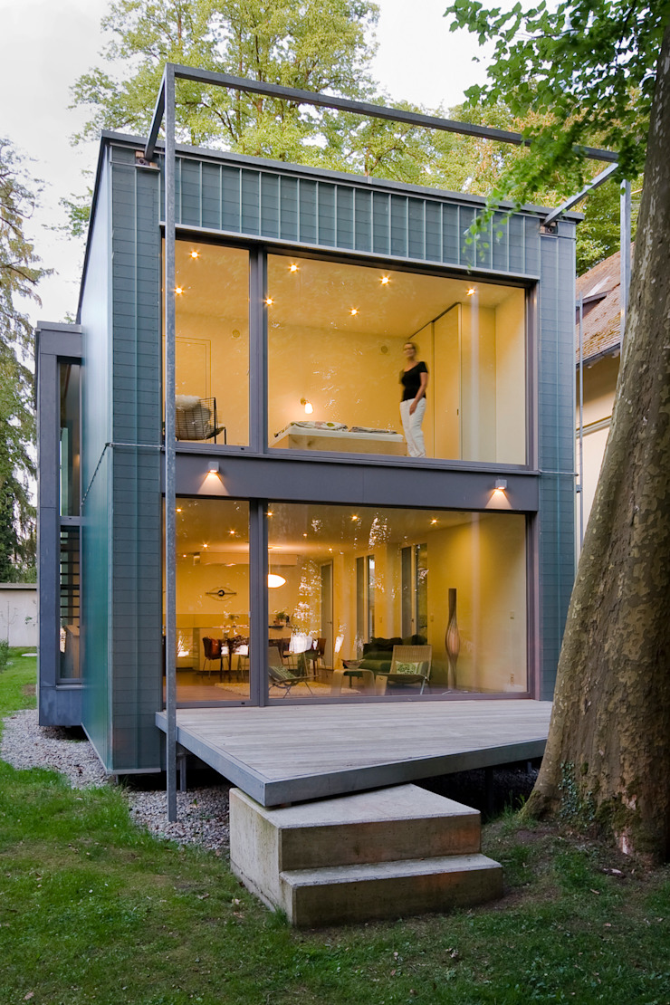 ARCHITEKTEN GECKELER Minimalist house Glass