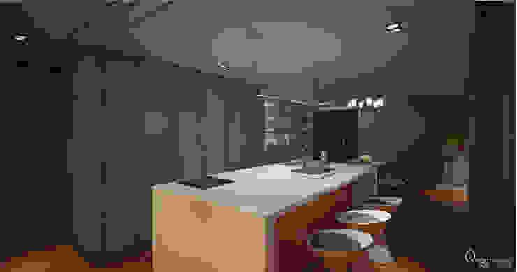 🍀 現代廚房設計點子、靈感&圖片 根據 宇喆室內裝修設計有限公司 現代風