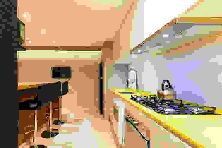 Apto Gourmet - Caçador SC JDB Arquitetura + Design Cozinhas modernas